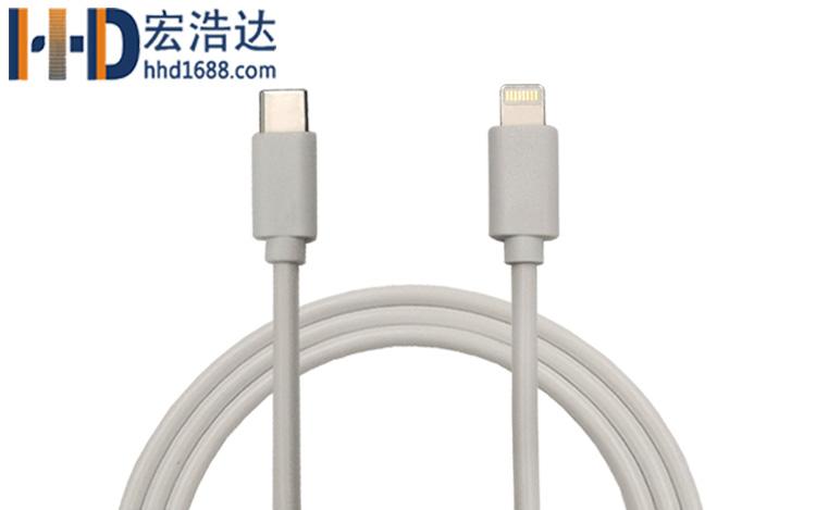 da赢家游戏数据xiangong厂lightning to type-c数据xian双面插kuai充苹果充电xian